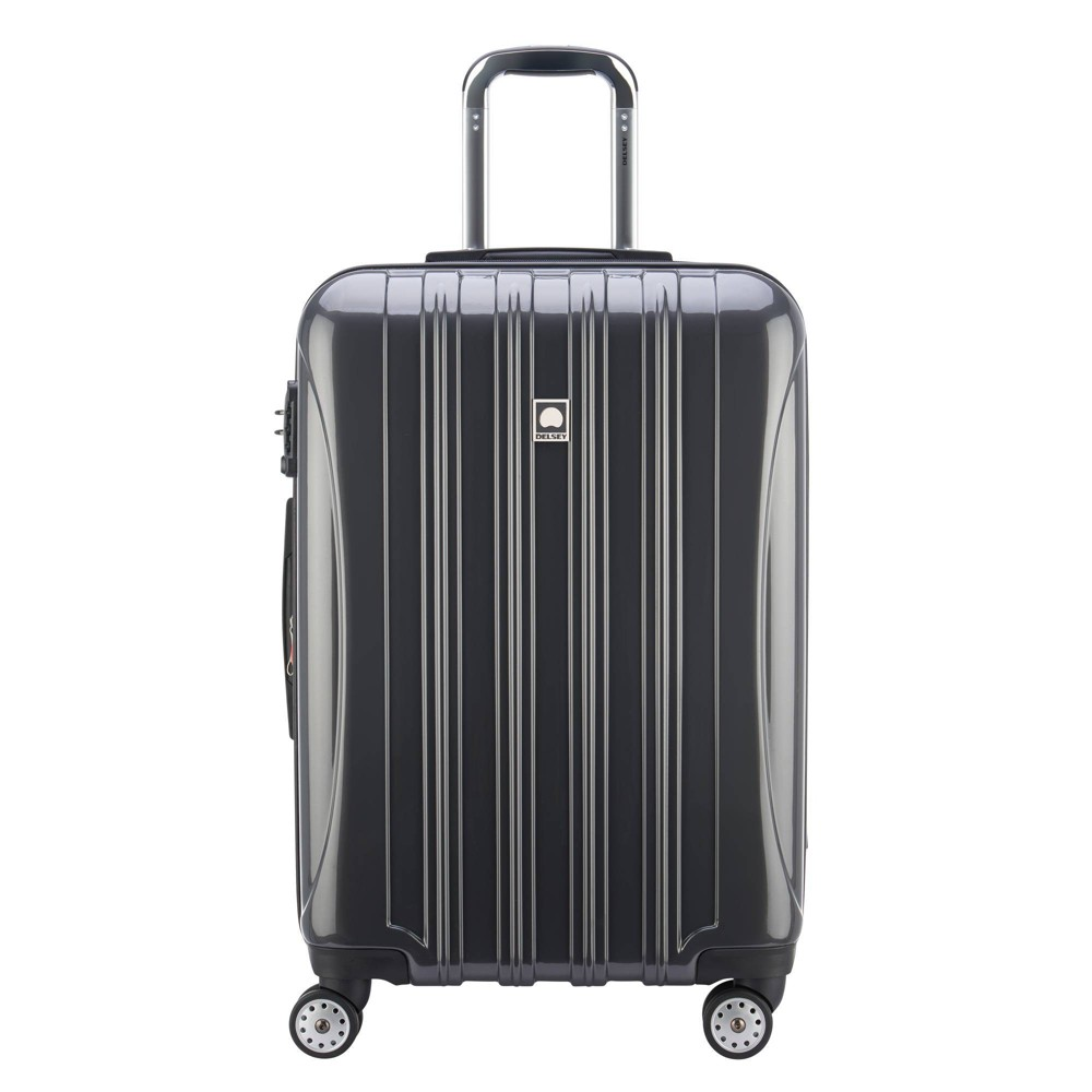 "Image of ""DELSEY Paris Aero 25"""" Expandable Spinner Upright Suitcase - Platinum, White"""