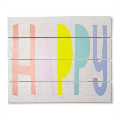 Wall Art Happy Hues (15.25 x18.25 )- Cloud Island™ White