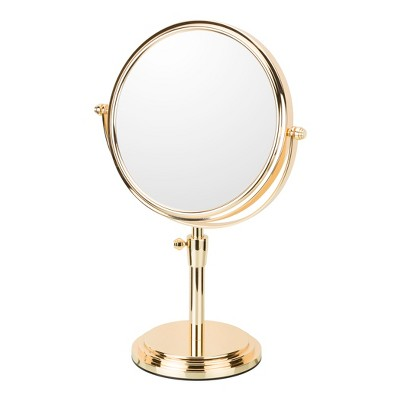 Mirror Image 5 x1  Classic Adjustable Freestanding Magnified Makeup Vanity Mirror Rose Gold