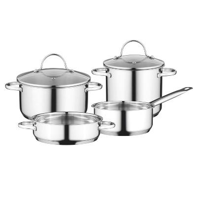 BergHOFF Essentials Comfort 6pcs 18/10 Stainless Steel Cookware Set