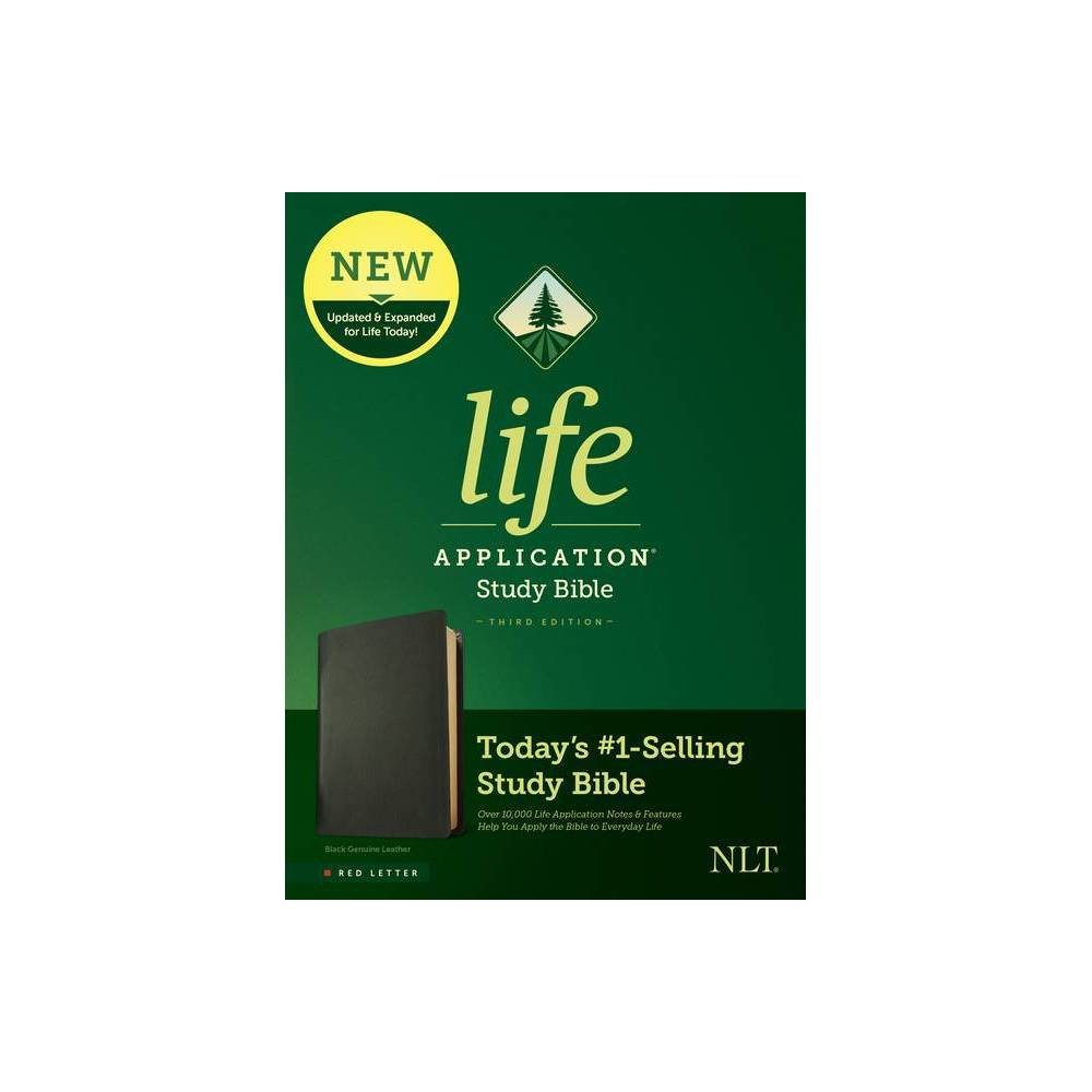 Nlt Life Application Study Bible Third Edition Red Letter Genuine Leather Black Leather Bound