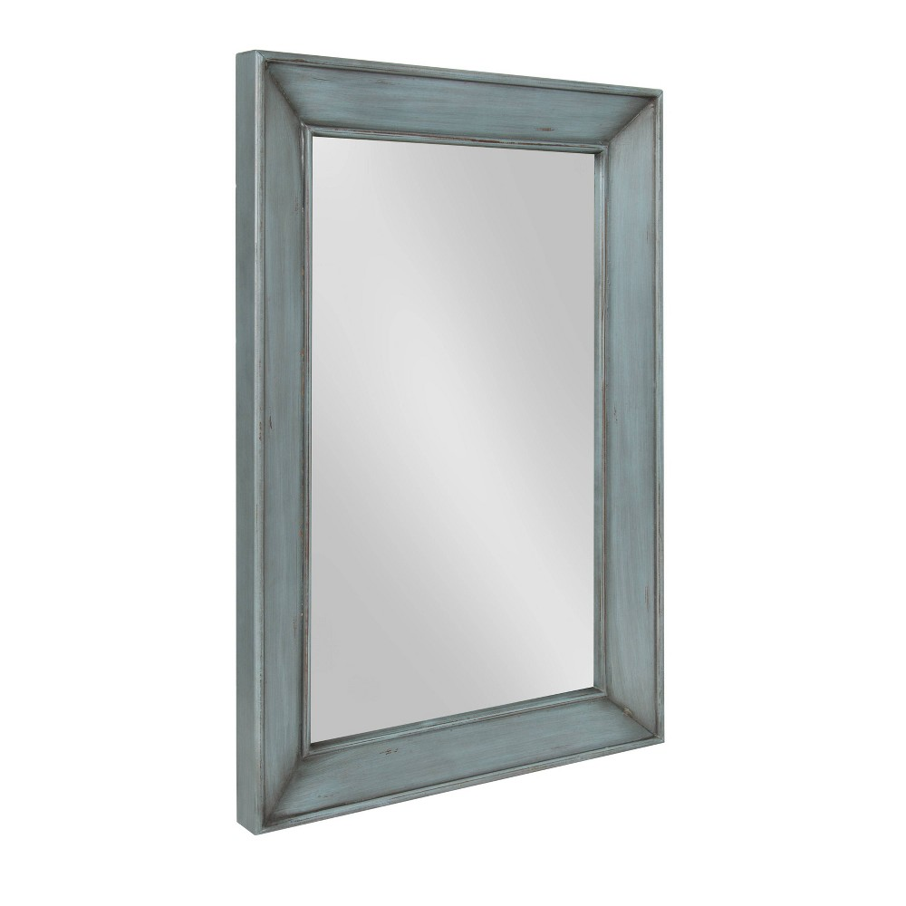 """Image of """"23.5""""""""x35"""""""" Yuda Wooden Wall Mirror Blue - Kate and Laurel"""""""