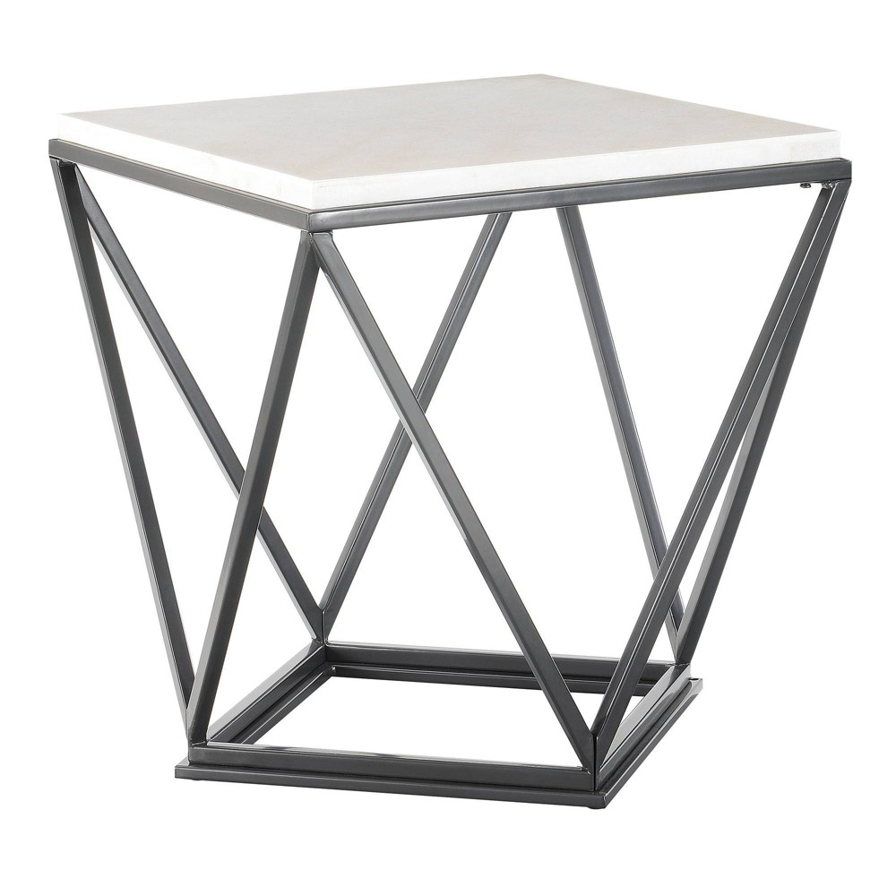 Conner Square End Table White - Picket House Furnishings