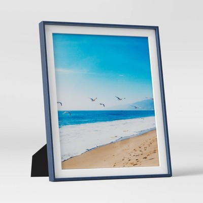 "8"" x 10"" Slanted StepPicture Frame Navy/White - Room Essentials™"