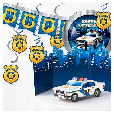 Happy Birthday Police Party Decorating Kit