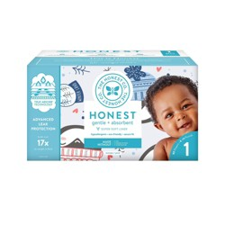 The Honest Company Winter Wonder Disposable Diapers - Size 1 - 80ct
