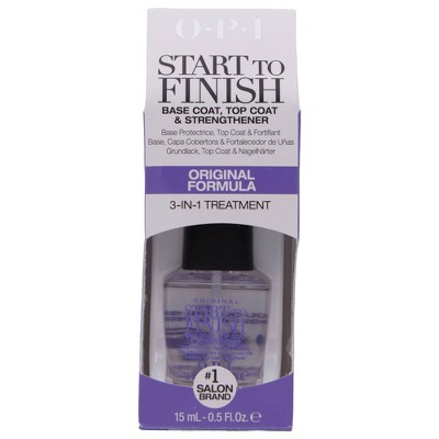 OPI Start to Finish Base Coat, Top Coat and Strengthener – 0.5 fl oz