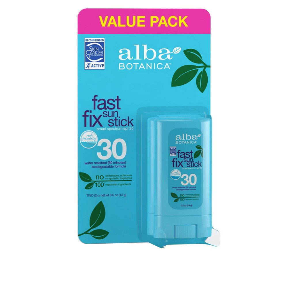 Image of Alba SMS Fast Fix Sunscreen Stick Twin Pack - SPF 30 - 0.5oz