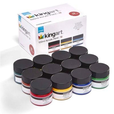 12pc Acrylic Paint Set - Kingart