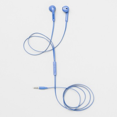 heyday™ Wired In-Ear TPE Flat Cable Earbuds – Bicycle Blue