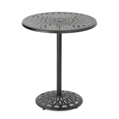 Arlana Round Cast Aluminum Bar Table - Shiny Copper - Christopher Knight Home