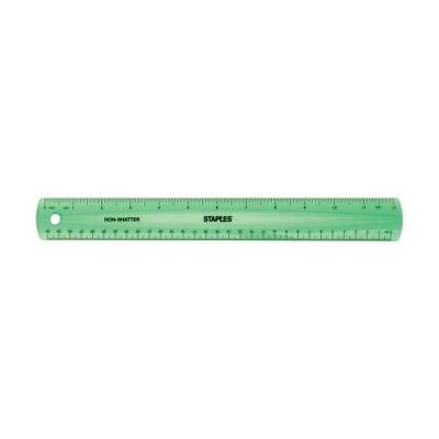 "Staples 12"" Shatterproof Ruler Assorted Translucent Colors (51883)"