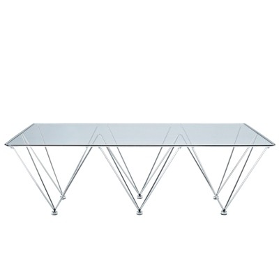 Prism Rectangle Coffee Table Clear   Modway : Target
