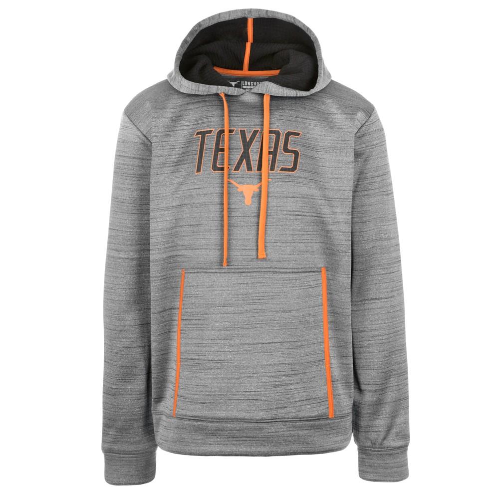 Texas Longhorns Men's Long Sleeve Activewear Hoodie - Charcoal - L, Gray