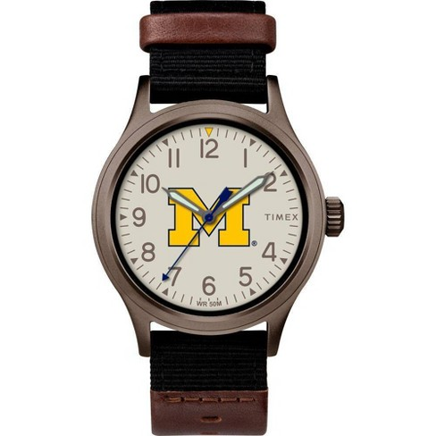 NCAA Michigan Wolverines Tribute Collection Clutch Men's Watch - image 1 of 1