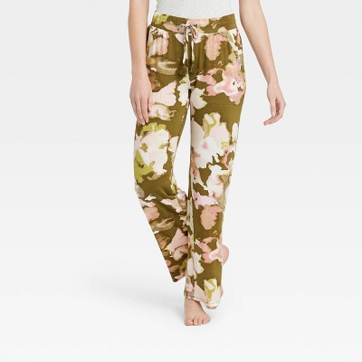 Women's Floral Print Beautifully Soft Pajama Pants - Stars Above™ Green