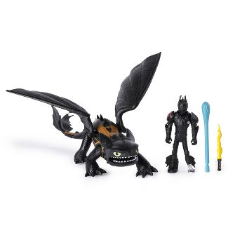DreamWorks Dragons Toothless and Hiccup Dragon with Armored Viking Figure