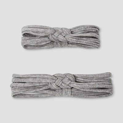 Baby Girls' 2pc Mommy & Me Love Knot Headbands - Cat & Jack™ Gray
