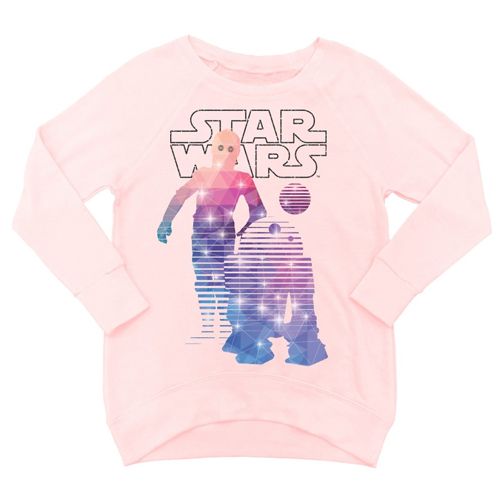 Girls' Star Wars SweatShirt - Blush Peach M