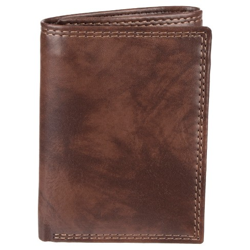 Wemco™ Men's Trifold With Zipper RFID Wallet - Brown - image 1 of 4