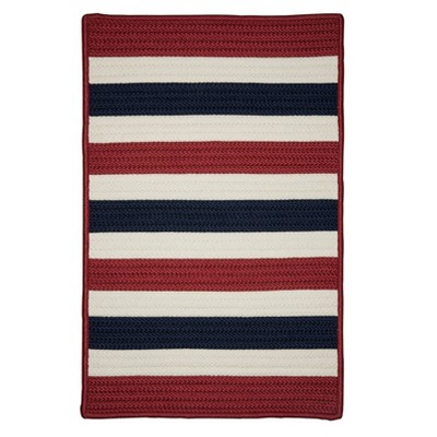 Railroad Stripe Braided Area Rug - Colonial Mills