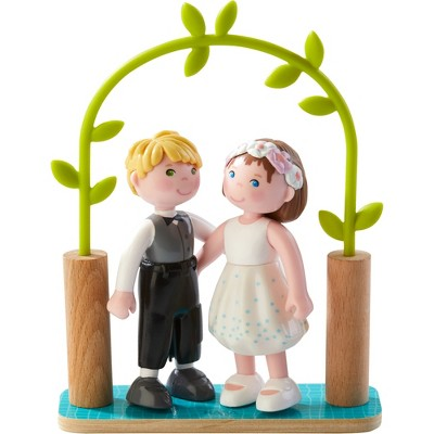 "HABA Little Friends 4"" Bride & Groom - Wedding Play Set"