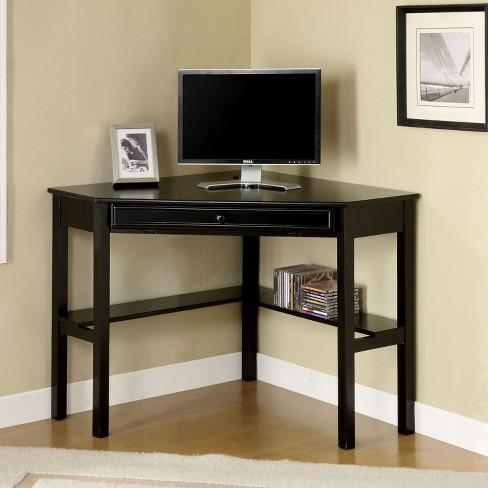 Erona Modern Corner Computer Desk Black - miBasics