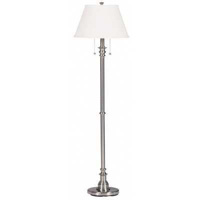 Spyglass Floor Lamp - Brushed Steel Finish