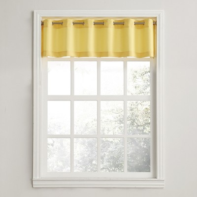Montego Casual Textured Grommet Kitchen Curtain Valance Yellow (56 x14 )- No. 918