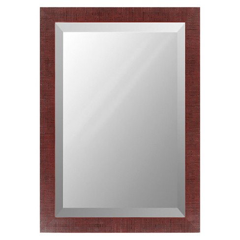 Rectangle Chatwyn Decorative Wall Mirror Brown - Surya - image 1 of 2