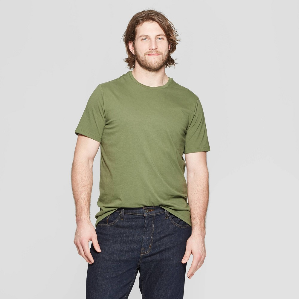 Men's Big & Tall Standard Fit Short Sleeve Lyndale Crew Neck T-Shirt - Goodfellow & Co Orchid Leaf 2XB was $8.0 now $5.0 (38.0% off)