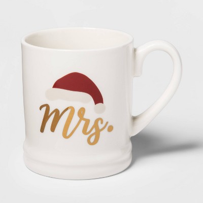 16oz Stoneware Mrs. Mug Cream - Threshold™