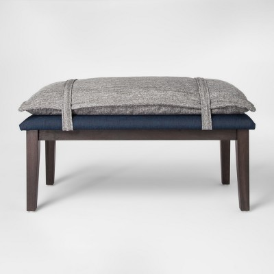 Pillow Top Bench   Gray/Blue   Project 62™
