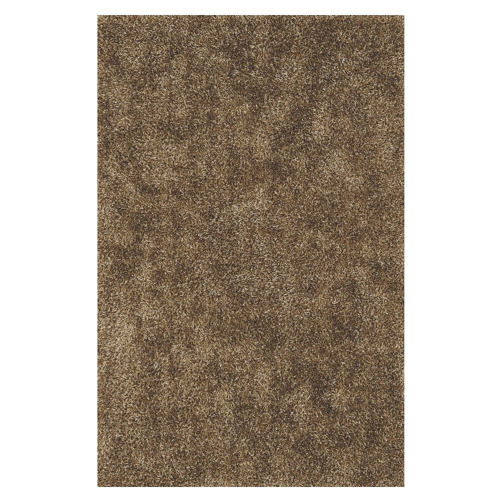 8'x10' Lustrous Shoestring Shag Area Rug Taupe (Brown) - Addison Rugs
