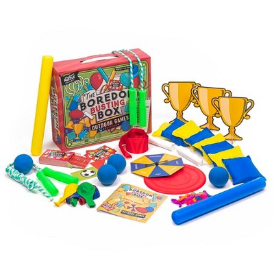 Professor Puzzle Outdoor Boredom Busting Box - 45 Fun Games for Outdoor Picnic Party Activities