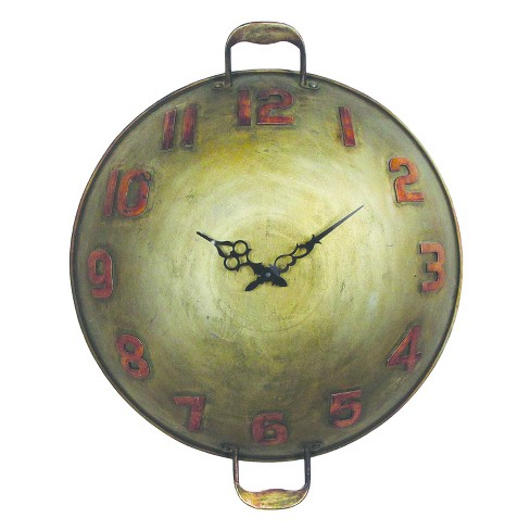 Wall Clock-Bowl with Handles - Home Source - image 1 of 1