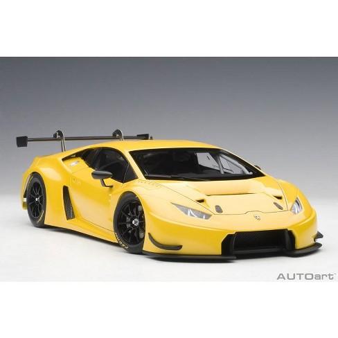 Lamborghini Huracan Gt3 Yellow With Pearl Effect Giallo Into 1 18