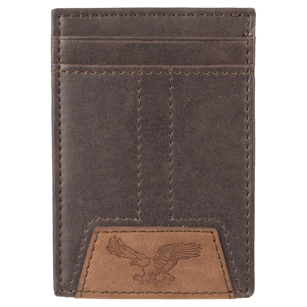 Denizen from Levi's Men's Wide Magnetic Front Pocket Wallet - Brown