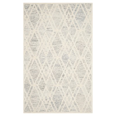 Gray/Ivory Abstract Tufted Area Rug - (5'x8')- Safavieh