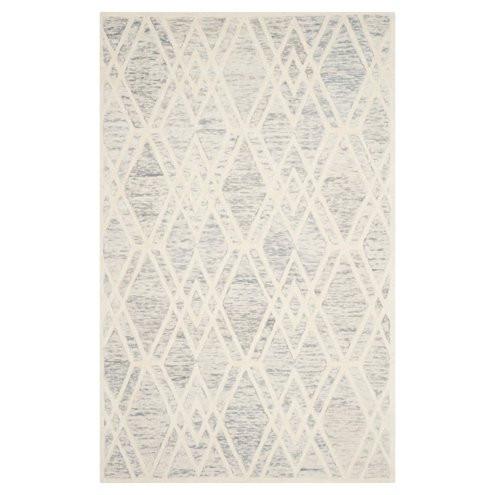 Gray/Ivory Abstract Tufted Area Rug - (5'x8') - Safavieh