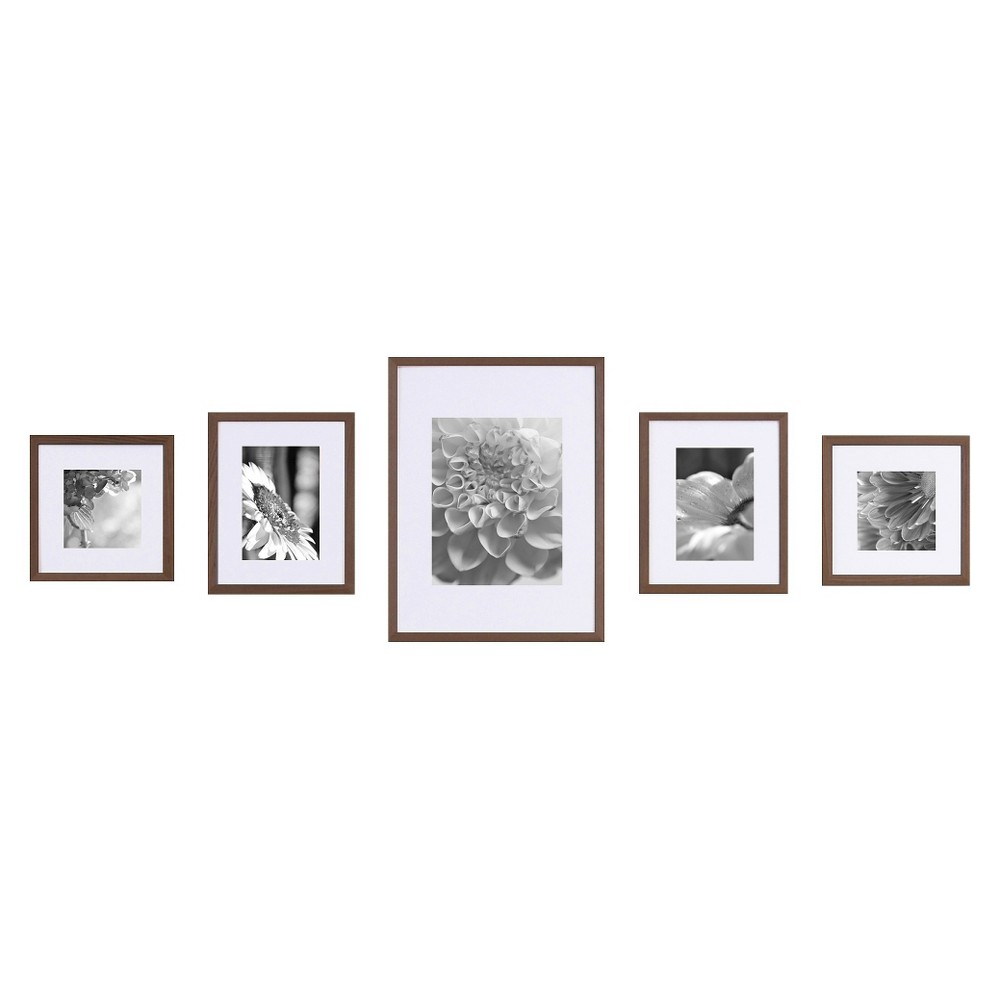 Gallery Perfect Wall Kit 5 Piece – Walnut (Brown)