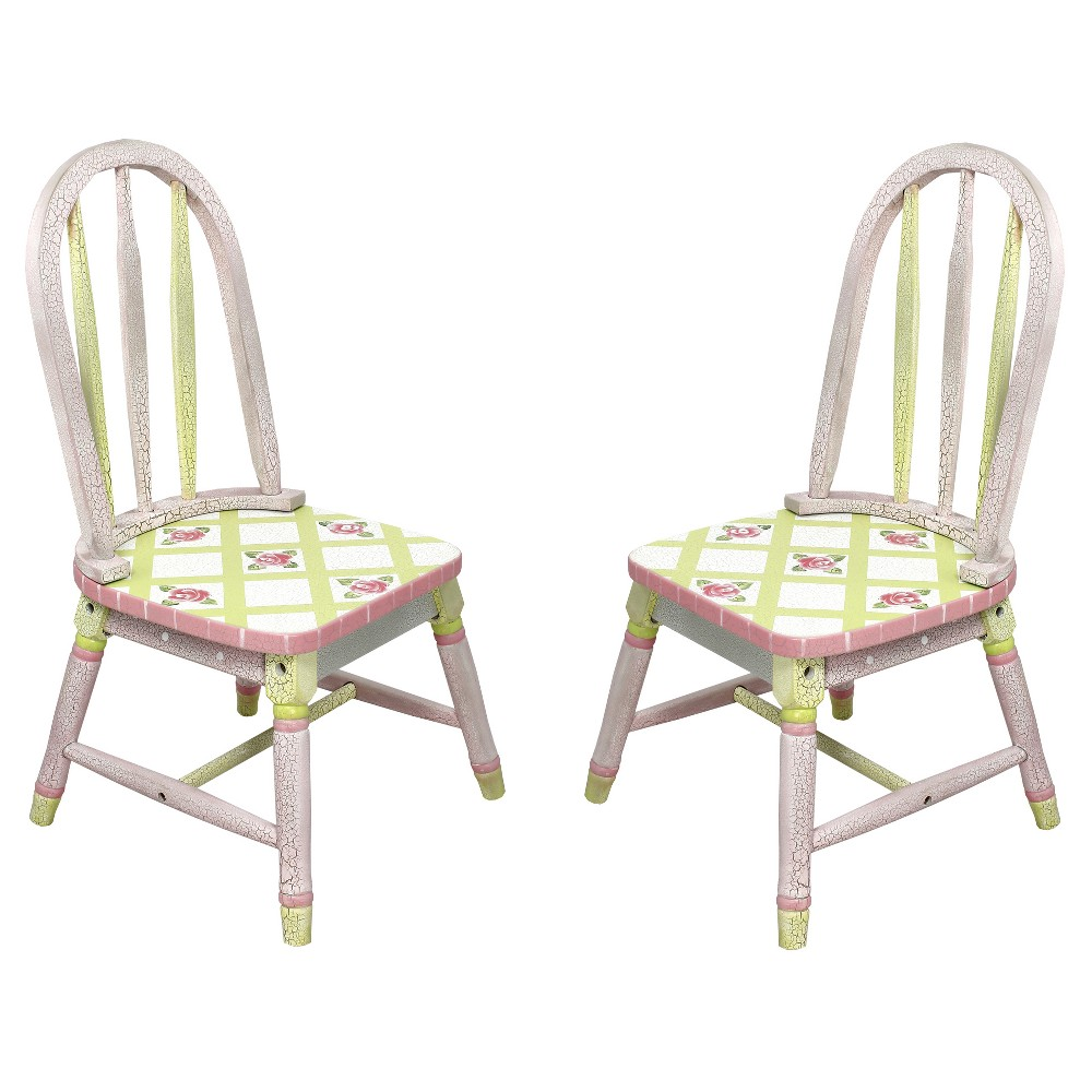 Image of Fantasy Fields Crackled Rose Chair (Set of 2) - Teamson