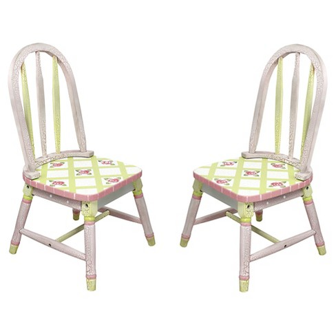 Fantasy Fields Crackled Rose Chair (Set of 2) - Teamson - image 1 of 6