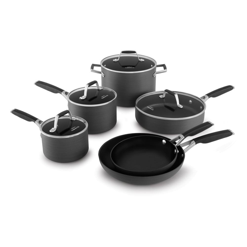 Select by Calphalon 10pc Hard-Anodized Non-Stick Cookware Set, Black