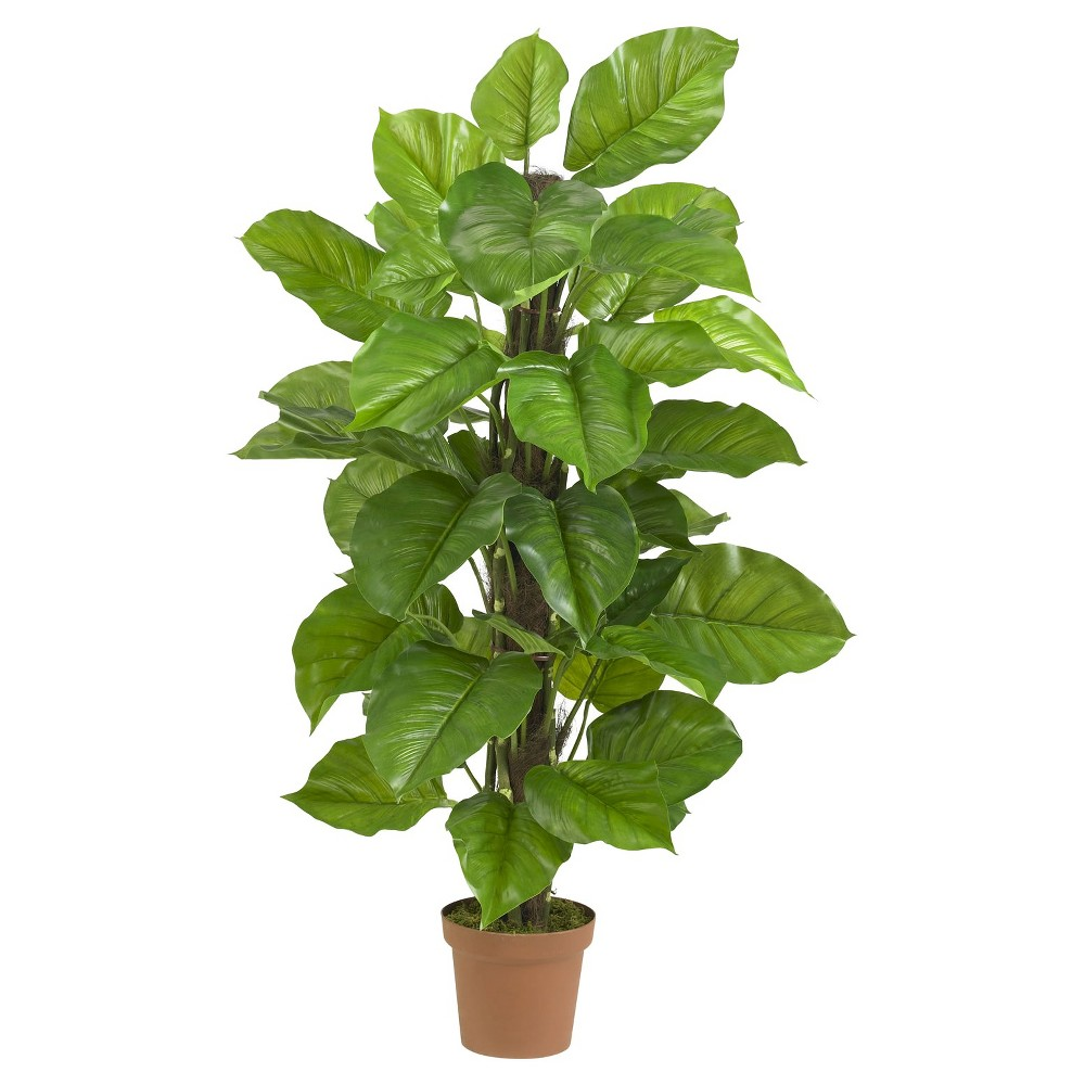 Nearly Natural 52 Large Leaf Philodendron Silk Plant (Real Touch), Green