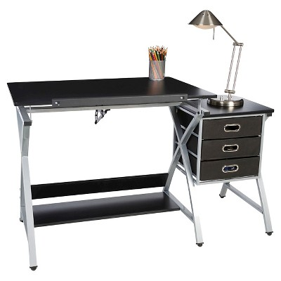 OneSpace 50 CS03 Craft Station With Stool In Black And Silver : Target