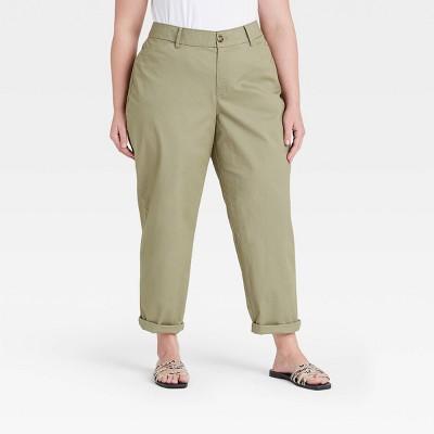 Women's Plus Size Tapered Chino Pants - Ava & Viv™