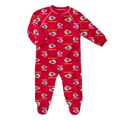 NFL Kansas City Chiefs Baby Boys' Blanket Sleeper - 0-3M