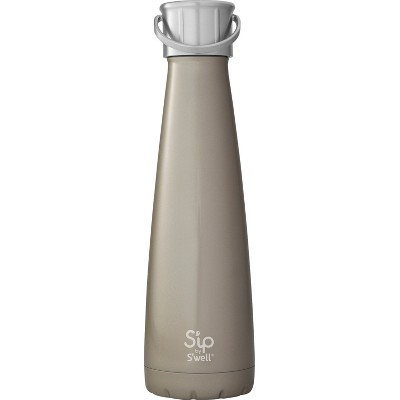 S'ip by S'well 15oz Stainless Steel Water Bottle Gray
