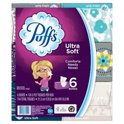 Puffs Ultra Soft Facial Tissue - 6pk